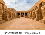 pharaohs statues in the temple... | Shutterstock . vector #441338176