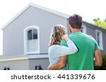 rear view of couple standing... | Shutterstock . vector #441339676