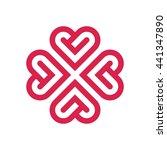 heart love line of logo design... | Shutterstock .eps vector #441347890