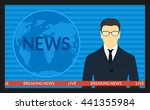 vector illustration.tv screen... | Shutterstock .eps vector #441355984