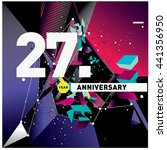 27th anniversary logo with...   Shutterstock .eps vector #441356950