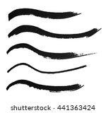 wavy black lines of ink... | Shutterstock . vector #441363424