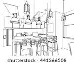 outline sketch drawing... | Shutterstock .eps vector #441366508