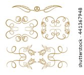 set of elegant flourishes for... | Shutterstock .eps vector #441367948