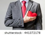 businessman showing compassion... | Shutterstock . vector #441372178