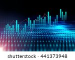 financial stock market graph on ... | Shutterstock . vector #441373948