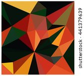 low polygon triangle pattern... | Shutterstock . vector #441379639