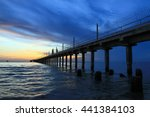 harbor and sea view on morning... | Shutterstock . vector #441384103