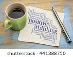 positive thinking word cloud  ... | Shutterstock . vector #441388750