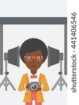 an african american woman... | Shutterstock .eps vector #441406546