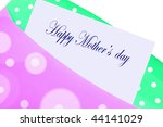 happy mother's day greeting... | Shutterstock . vector #44141029