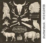 vintage wilderness vector... | Shutterstock .eps vector #441410458