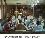 big team discussing business... | Shutterstock . vector #441419194