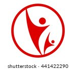 red figure icon  | Shutterstock .eps vector #441422290
