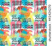 vector summer abstract pattern... | Shutterstock .eps vector #441424270
