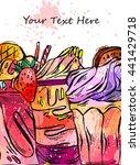 hand drawn vector textured card ... | Shutterstock .eps vector #441429718