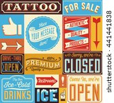 retro signs and frames   set of ... | Shutterstock .eps vector #441441838