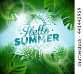 hello summer typographic... | Shutterstock . vector #441442939