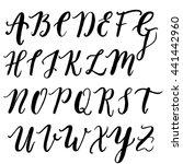 alphabet in style hand... | Shutterstock .eps vector #441442960