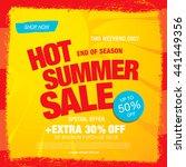 summer sale. vector template... | Shutterstock .eps vector #441449356