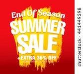 summer sale. vector template... | Shutterstock .eps vector #441449398