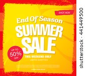 summer sale. vector template... | Shutterstock .eps vector #441449500