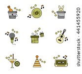 party   birthday vector icon set | Shutterstock .eps vector #441455920