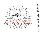 inspirational chalk typography... | Shutterstock .eps vector #441456229