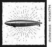 vintage airship background....   Shutterstock . vector #441464794