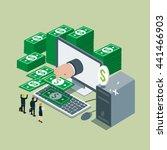 business technology networking... | Shutterstock .eps vector #441466903