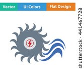 water turbine icon. flat color...