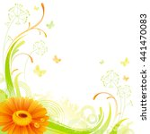 Floral Summer Background With...