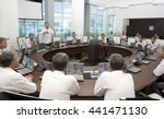 meeting and discussion briefing.... | Shutterstock . vector #441471130