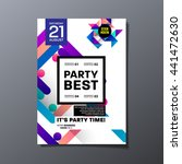 party flyer template. vector... | Shutterstock .eps vector #441472630