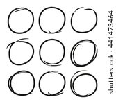hand drawn circle highlighter... | Shutterstock .eps vector #441473464