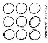 hand drawn circle highlighter... | Shutterstock .eps vector #441473464