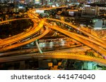 abstract road at night in... | Shutterstock . vector #441474040