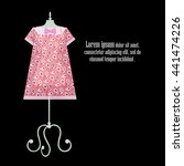 origami paper pink summer... | Shutterstock . vector #441474226