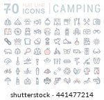 set vector line icons in flat...   Shutterstock .eps vector #441477214