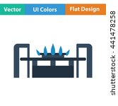 gas burner icon. flat color...