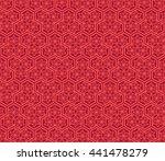 seamless oriental pattern... | Shutterstock .eps vector #441478279