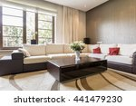 shot of a bing sofa in a... | Shutterstock . vector #441479230