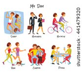 lifestyle or typical daily... | Shutterstock .eps vector #441479320