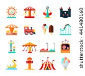 amusement park for children... | Shutterstock .eps vector #441480160
