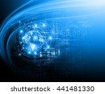 best internet concept of global ... | Shutterstock . vector #441481330