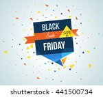 super sale banner on colorful... | Shutterstock .eps vector #441500734