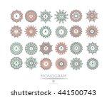 elegant linear abstract... | Shutterstock .eps vector #441500743