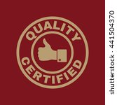the certified quality and... | Shutterstock .eps vector #441504370