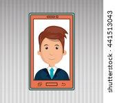 smartphone service design ... | Shutterstock .eps vector #441513043