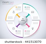 circle infographic design... | Shutterstock .eps vector #441513070